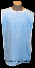 Adult Bib Blue Terry Cloth