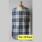 Adult Bib: Checkered Waterproof