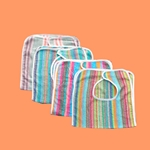 Multi Striped Adult Terry Cloth Bibs