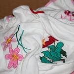 Open Box Item: Adult Designer Embroidery Bibs (each)