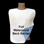 Adult Terry Cloth Bib Full Vinyl Barrier