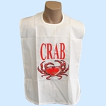 Crab Bibs Washable Reusable with Snap Closure (per 6 pack)