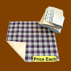 Plaid Reusable Bed Underpad