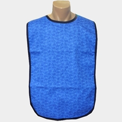 Adult Bib Blue Marble Waterproof Back Barrier